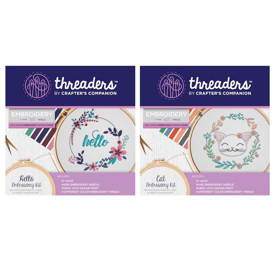 Image 554080_HELLO.jpg , Product 554-080 / Price $24.99 , Crafter's Companion Threaders Embroidery Kit from Crafter's Companion on TSC.ca's Home & Garden department
