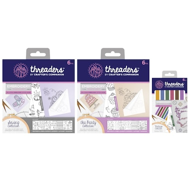 Crafter's Companion Threaders Embroidery Transfer Sheet Bundle