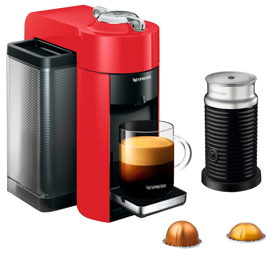 Image 554168_RED.jpg , Product 554-168 / Price $319.99 , Nespresso Vertuo Coffee Machine with Aeroccino Milk Frother from Nespresso on TSC.ca's Kitchen department