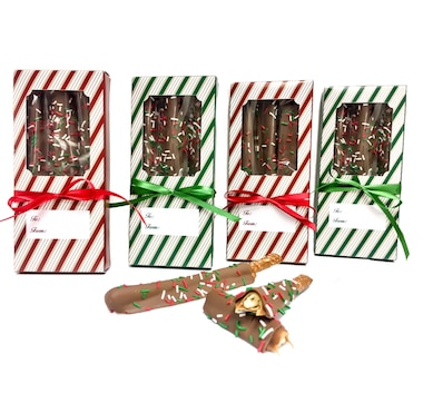 Nadia Chocolates 12-Piece Caramel Rods with Boxes