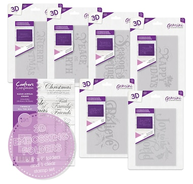 Crafter's Companion 3-D Embossing Folders Set