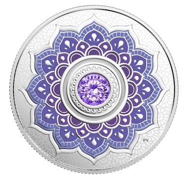 2018 $5 Fine Silver Coin - Birthstones Series December/Tanzanite