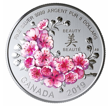2019 $8 Fine Silver Coin Cherry Blossoms: A Gift of Beauty