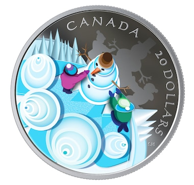 2019 $20 Fine Silver Coin Mystical Snow Day