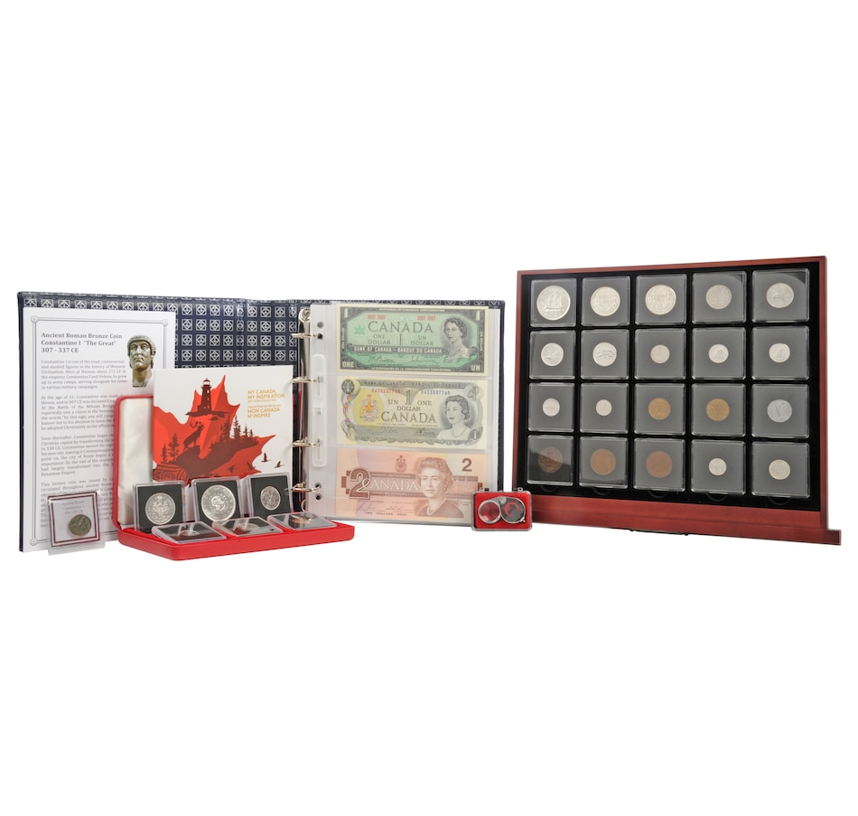Image 554467.jpg , Product 554-467 / Price $800.00 , Historic Canada Coin and Banknote Collection (Total 111 Coins and 3 Banknotes) from Canadian Coin & Currency on TSC.ca's Coin department