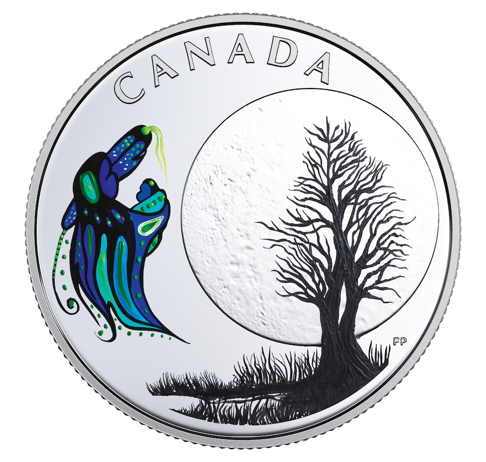 Image 554489.jpg , Product 554-489 / Price $49.95 , 2018 $3 Fine Silver Coin Big Spirit Moon from Royal Canadian Mint on TSC.ca's Coin department