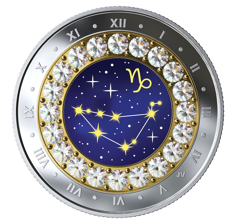 Image 554490.jpg , Product 554-490 / Price $54.95 , 2019 $5 Zodiac Series Fine Silver Coin Capricorn (December 22-January 20) from Royal Canadian Mint on TSC.ca's Coin department