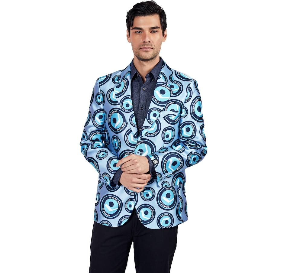 Image 554527.jpg , Product 554-527 / Price $150.00 , Hockey Night in Canada All-Over Print Men's Blazer from Hockey Night in Canada on TSC.ca's Sports department