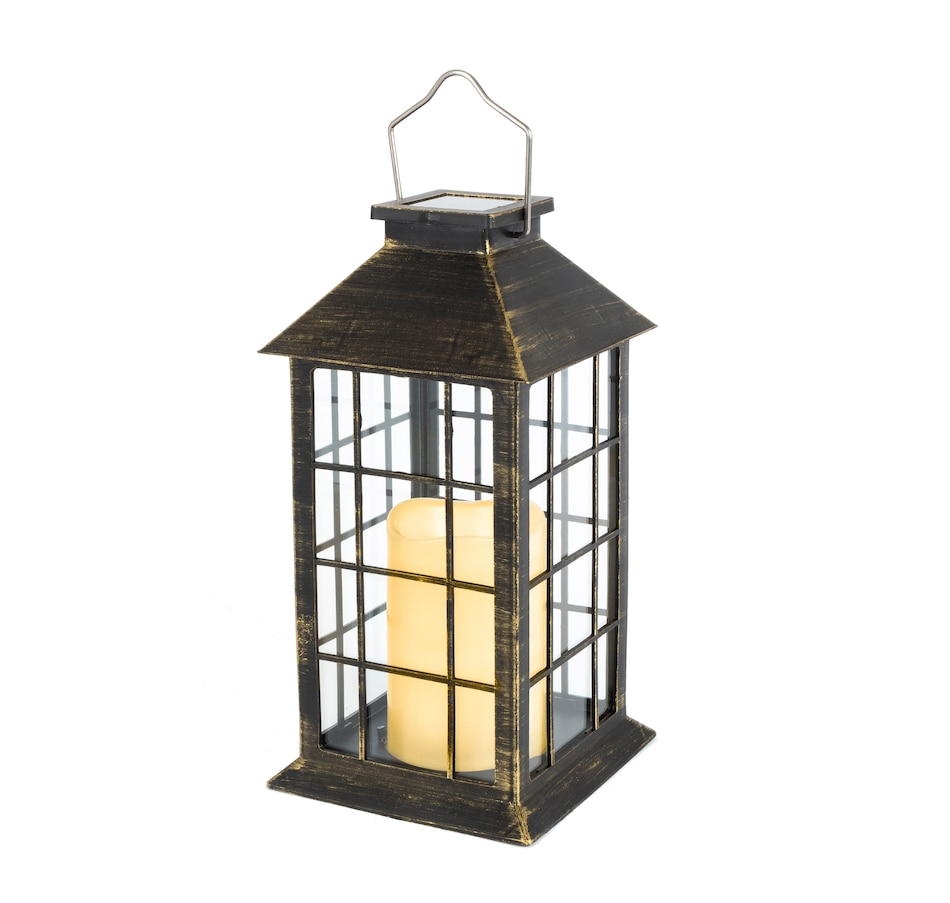 Image 554679_BLK.jpg , Product 554-679 / Price $14.33 , Lantern with Solar Candle (2-Pack)  on TSC.ca's Home & Garden department