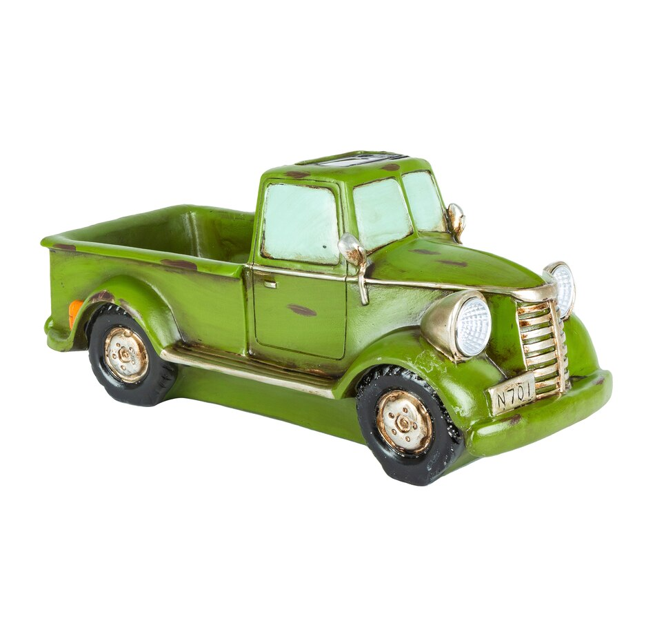 """Image 554683_GRN.jpg , Product 554-683 / Price $34.99 , 16"""" Solar Lighted Resin Antique Truck Planter  on TSC.ca's Home & Garden department"""