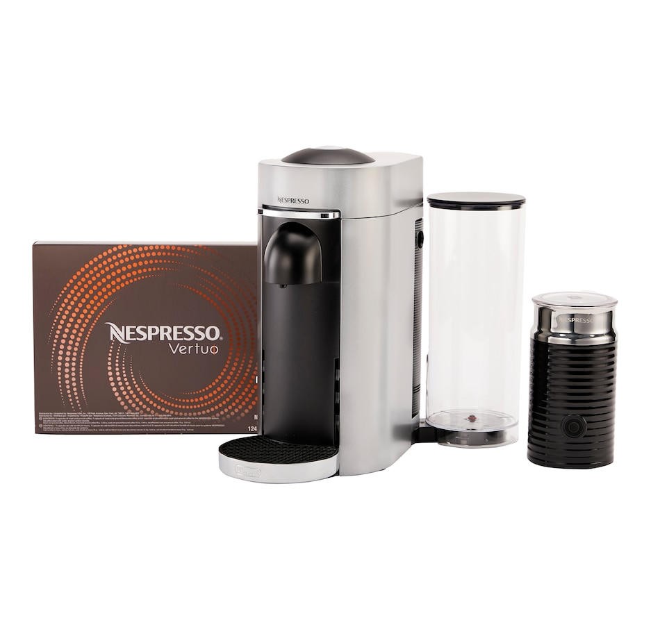 Image 554725_SIL.jpg , Product 554-725 / Price $349.99 , Nespresso VertuoPlus Deluxe Bundle from Nespresso on TSC.ca's Kitchen department