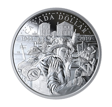 2019 Proof Fine Silver Dollar 75th Anniversary of D-Day