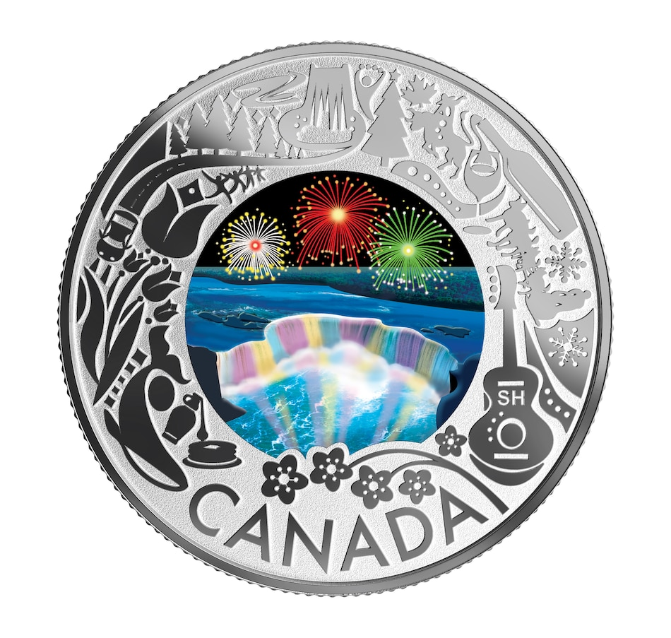 Image 554778.jpg , Product 554-778 / Price $49.95 , 2019 $3 Fine Silver Coin Celebrating Canadian Fun and Festivities - Niagara Falls from Royal Canadian Mint on TSC.ca's Coin department