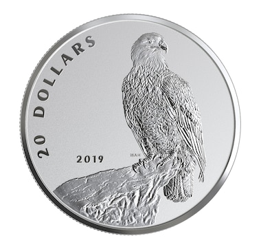 2019 $20 Fine Silver Proof Coin - The Valiant One: Bald Eagle