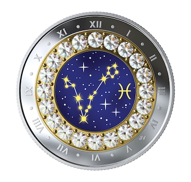 2019 $5 Zodiac Series Fine Silver Coin Pisces (February 20 - March 20)