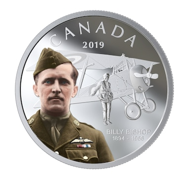 2019 $20 Fine Silver Coin Billy Bishop - 125th Anniversary of his Birth