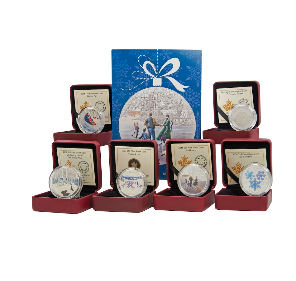 Image 554856.jpg , Product 554-856 / Price $508.70 , Celebrating Winter Six-Piece RCM Fine Silver Coin Collection from Royal Canadian Mint on TSC.ca's Coins department