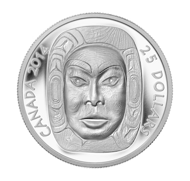 Proof Fine Silver Ultra-High-Relief $25 Coin - Matriarch Moon Mask