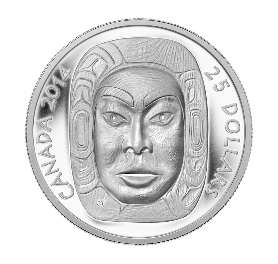 Image 554857.jpg , Product 554-857 / Price $149.95 , Proof Fine Silver Ultra-High-Relief $25 Coin - Matriarch Moon Mask from Royal Canadian Mint on TSC.ca's Coins department