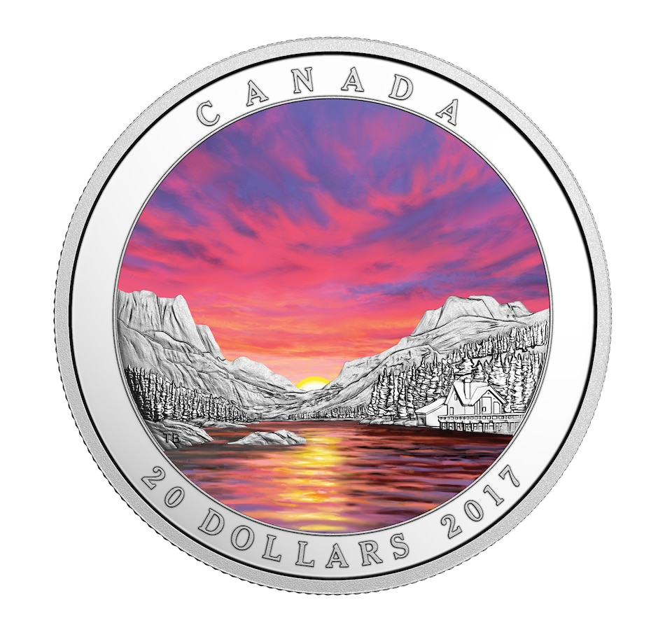 Image 554858.jpg , Product 554-858 / Price $99.95 , 2017 $20 Fiery Sky Fine Silver Coin from Royal Canadian Mint on TSC.ca's Coins department