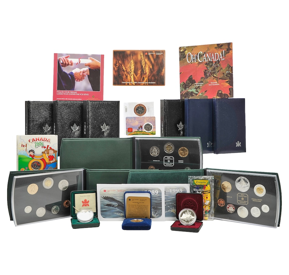 Image 554872.jpg , Product 554-872 / Price $899.95 , 20-Item RCM Collection 1987-2006 from Royal Canadian Mint on TSC.ca's Coins department