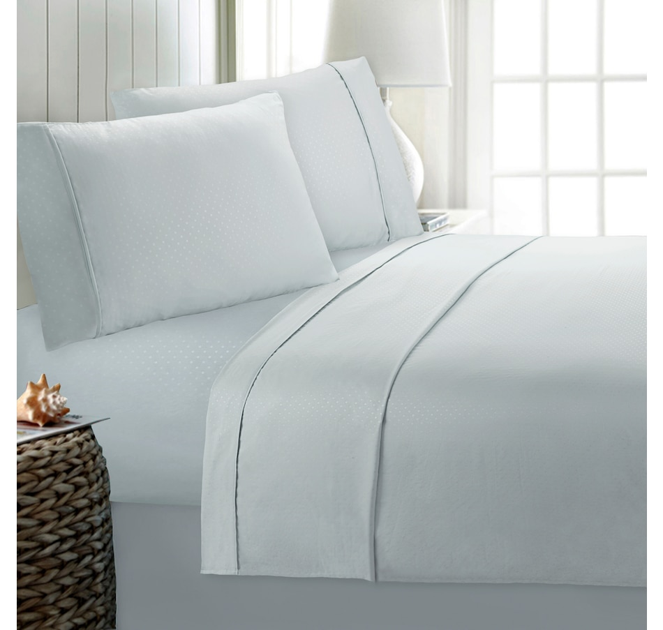Image 554942_GRY.jpg , Product 554-942 / Price $62.99 , St. Clair 6-Piece Embossed Swiss Dot Sheet Set from St. Clair Bedding on TSC.ca's Home & Garden department