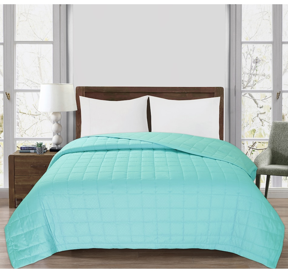 Image 554945_SEA.jpg , Product 554-945 / Price $62.99 - $72.99 , St. Clair Embossed Down Alternative Blanket from St. Clair Bedding on TSC.ca's Home & Garden department