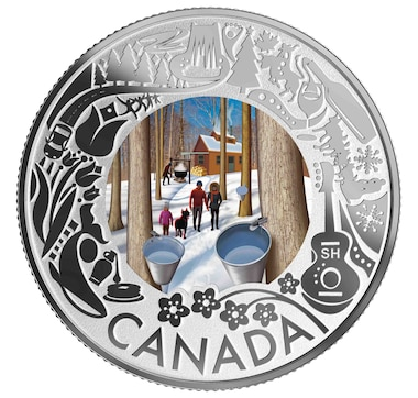 2019 $3 Fine Silver Coin Celebrating Canadian Fun and Festivities - Maple Syrup Tasting