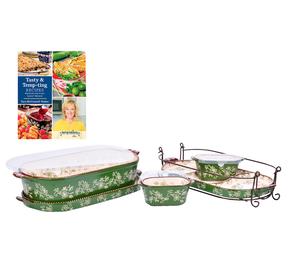 Image 555023_FLGRN.jpg , Product 555-023 / Price $102.99 , temp-tations Squoval Bundle with Cookbook from Temp-tations on TSC.ca's Kitchen department