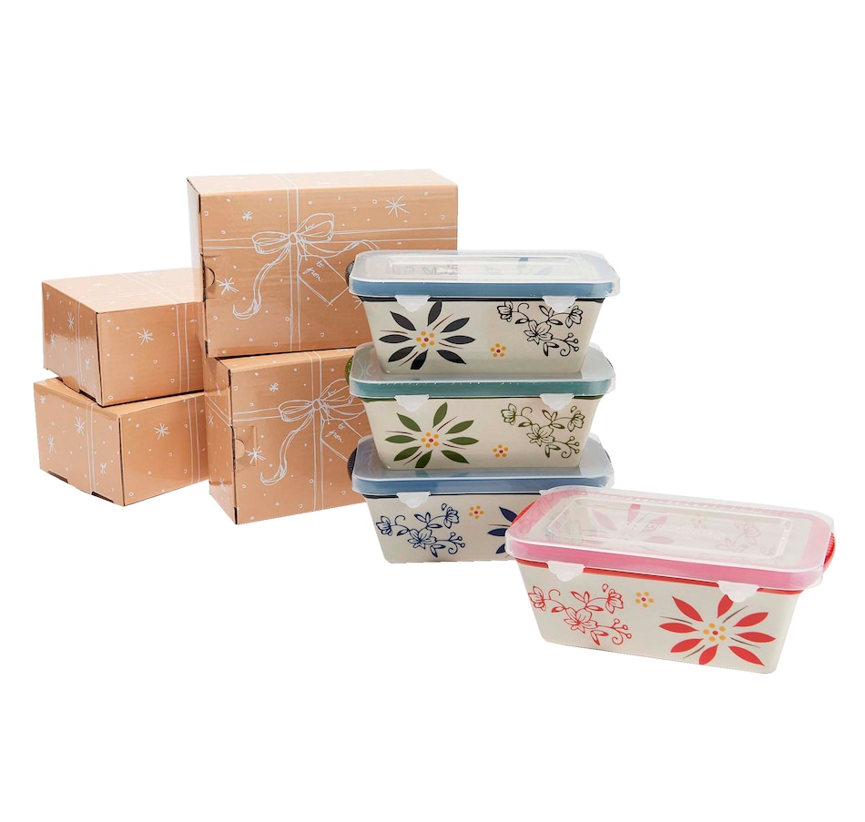 Image 555050_CLA.jpg , Product 555-050 / Price $29.99 , temp-tations Holiday Mini Loaf Pans with Gift Boxes (Set of 4) from Temp-tations on TSC.ca's Kitchen department