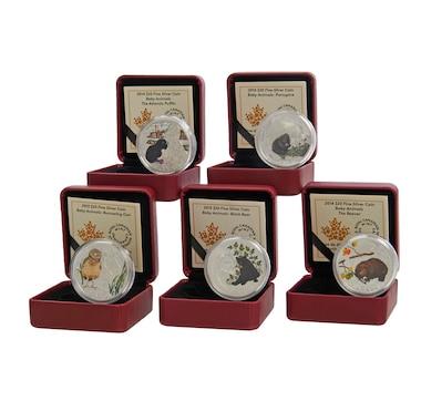 Five $20 Baby Animals - Fine Silver Coins