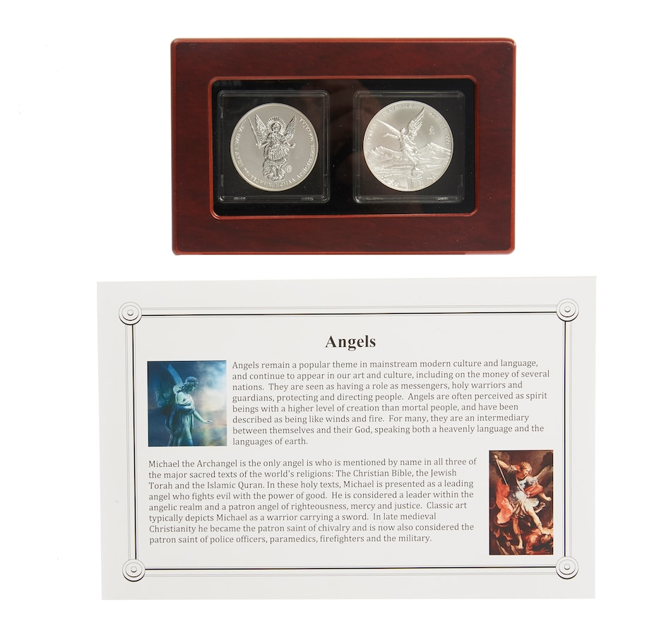 Image 555160.jpg , Product 555-160 / Price $149.95 , Two Angels - Set of Set of Two Different One-Ounce Fine Silver Angel Coins from Canadian Coin & Currency on TSC.ca's Coins department