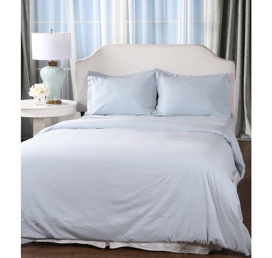 Image 555318_LTB.jpg , Product 555-318 / Price $19.88 , HomeSuite Essentials Ultra-Soft Cotton Duvet Cover 3-Piece Set from HomeSuite Collection on TSC.ca's Home & Garden department
