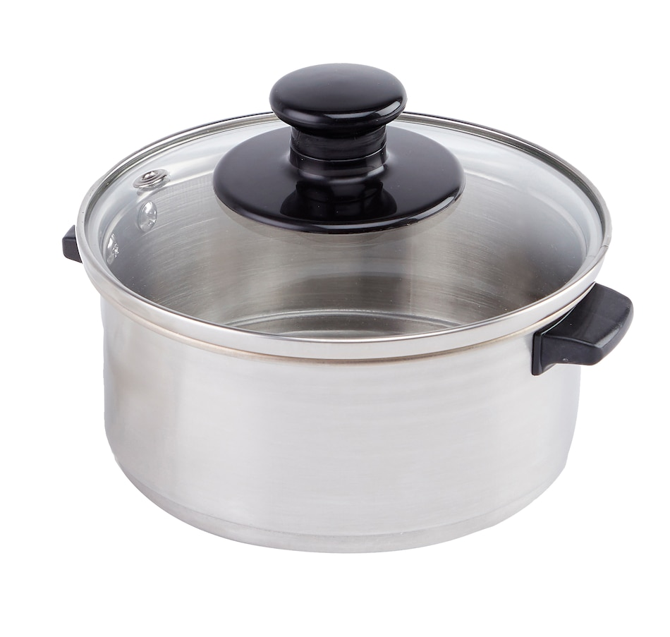 Image 555358.jpg , Product 555-358 / Price $21.99 , Wolfgang Puck Stainless Steel Steamer with Glass Lid for the 1.5 cup Portable Cooker from Wolfgang Puck on TSC.ca's Kitchen department