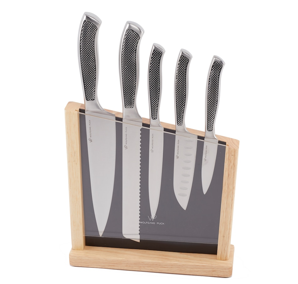 Image 555360.jpg , Product 555-360 / Price $133.99 , Wolfgang Puck 6-Piece Fully Forged Cutlery Set with Magnetic Block from Wolfgang Puck on TSC.ca's Kitchen department