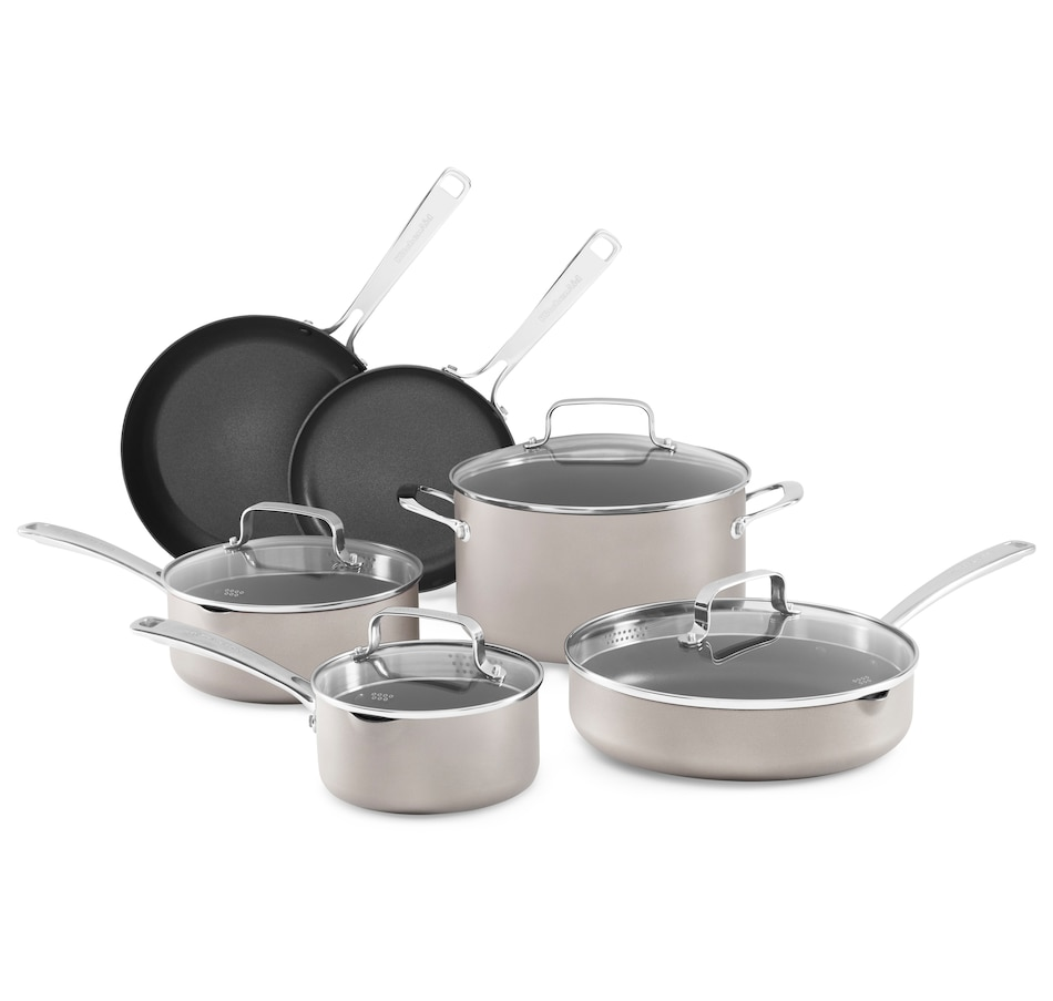 Image 555396_COSL.jpg , Product 555-396 / Price $224.99 , KitchenAid Aluminum Non-Stick 10-Piece Cookware Set from KitchenAid on TSC.ca's Kitchen department