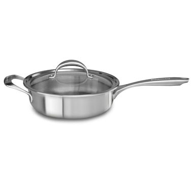 KitchenAid 5-Ply Copper Core 3.5-Quart Saute with Helper Handle and Lid