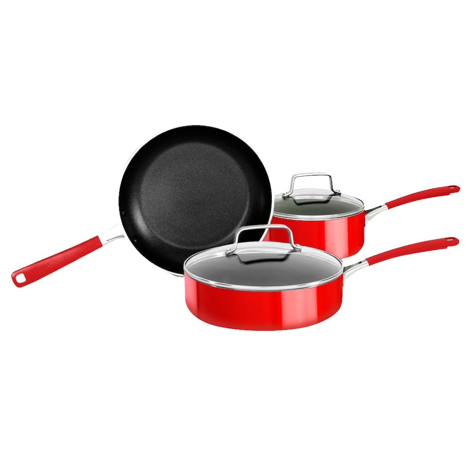 Image 555414.jpg , Product 555-414 / Price $109.99 , KitchenAid Empire Red Aluminum Non-Stick 5-Piece Cookware Set from KitchenAid on TSC.ca's Kitchen department