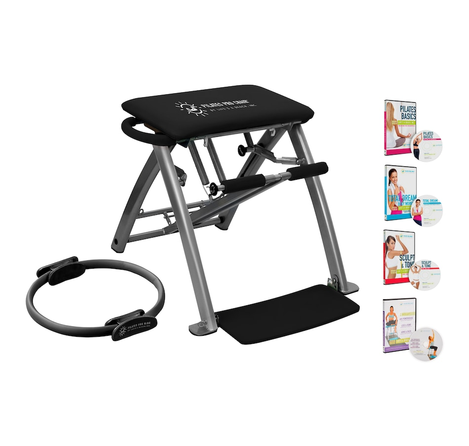 Image 555464_BLK.jpg , Product 555-464 / Price $357.99 , Pilates PRO Chair with Pilates Pro Ring and DVDs from Pilates Pro Chair on TSC.ca's Health & Fitness department