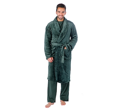 Guillaume Men's Micro Mink Shawl Collar Robe