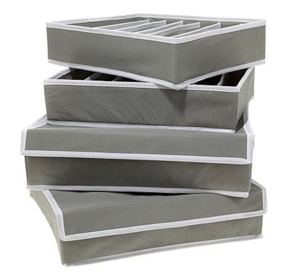 Image 555485_GRY.jpg , Product 555-485 / Price $26.99 , OrganizeMe 4-Piece Drawer Organizer System from Organizeme on TSC.ca's Home & Garden department