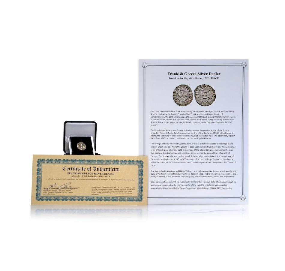 Frankish Greece Silver Denier Circa 1278-1308 CE