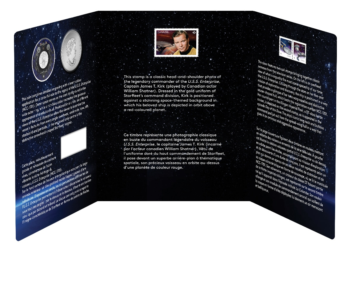 2016 Star Trek™ 50th Anniversary 25-cent Enterprise Coin and Stamp Set Canada