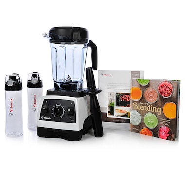 Vitamix 7500 with 64oz Container Combo (7500 G-Series Blender, 'Art of Blending' Book & 2 Smoothie Bottles with 64oz Under Cabinet Container)