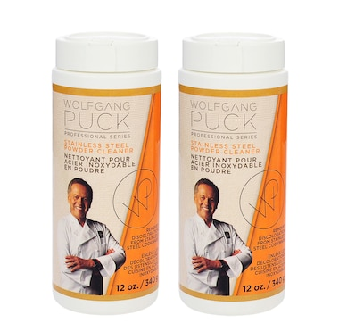 Wolfgang Puck 2 Pack Stainless Steel Cleaning Powder