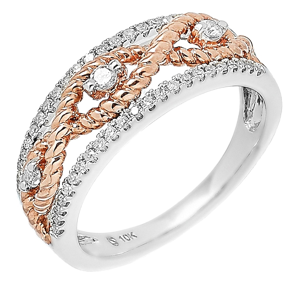 Image 560656.jpg , Product 560-656 / Price $899.99 , 10K Two Tone Gold 0.25ctw Diamond Ring from Diamond Show on TSC.ca's Jewellery department