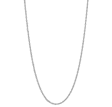 """Silver Gallery Sterling Silver 100"""" Double Link Twisted Lace Curb Chain"""