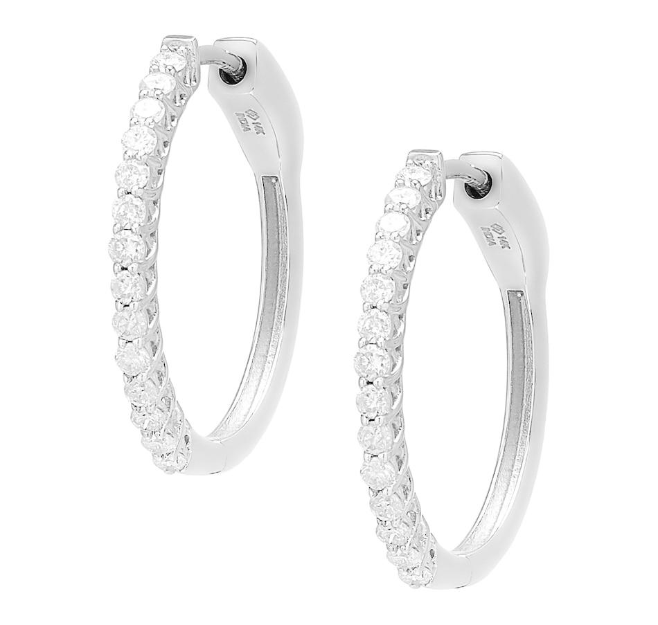 Image 560790_WG1CT.jpg , Product 560-790 / Price $1,499.95 - $4,299.95 , 14K Gold Diamond Hoop Earrings from Diamond Show on TSC.ca's Jewellery department