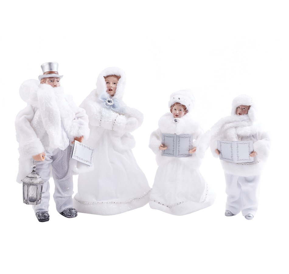 "Image 560990.jpg , Product 560-990 / Price $80.00 , Holiday Memories 12""–16"" Frosted White Carollers (Set of 4) from Holiday Memories on TSC.ca's Home & Garden department"