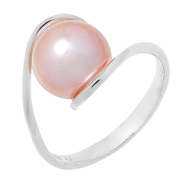Imperial Pearls Sterling Silver 9.5-10mm Freshwater Pearl Twist Ring